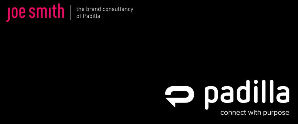 black background with Padilla and Joe Smith company logos