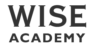 wise academy text logo