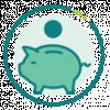 icon depicting piggy bank